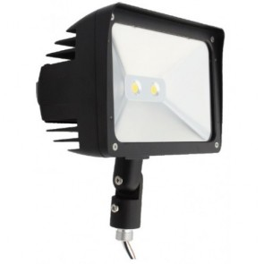 Orbit Flood Light, LED, Premium, 30W, 120-277V, 5000K, Cool White, Knuckle Mount - Bronze