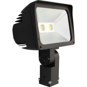 Orbit Flood Light, LED, Premium, 80W, 120-277V, 5000K, Cool White, Slip-Fitter Mount - Bronze