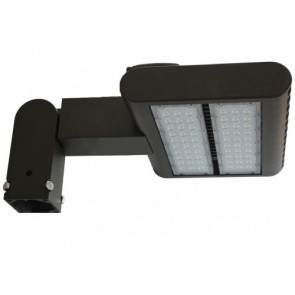 Orbit Flood Light, LED, 80W, 120-277V, 5000K, Cool White, Slip-Fitter Mount - Bronze