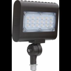 Orbit Flood Light, LED, 30W, 120-277V, 3000K, Warm White, Knuckle Mount - Bronze