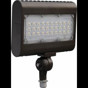Orbit Flood Light, LED, 50W, 120-277V, 5000K, Cool White, Trunnion Mount - Bronze