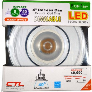 4 Inches Recess Can Pivoting Head Dimmable