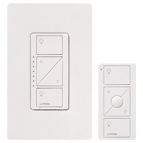 Lutron P-PKG1W-WH Caseta Wireless 600-watt/150-watt Multi-Location In-Wall Dimmer with Pico Remote Control Kit